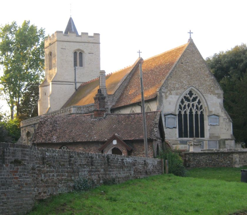 Cropped church